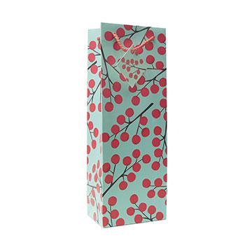 Red Berries Wine Gift Bag