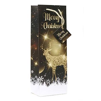 Christmas Reindeer Wine Gift Bag