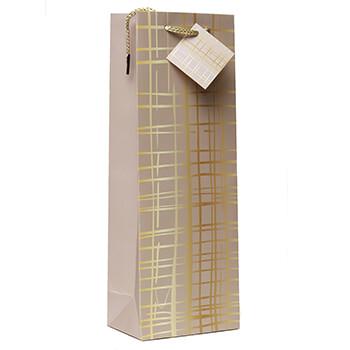 Gold Wine Gift Bag
